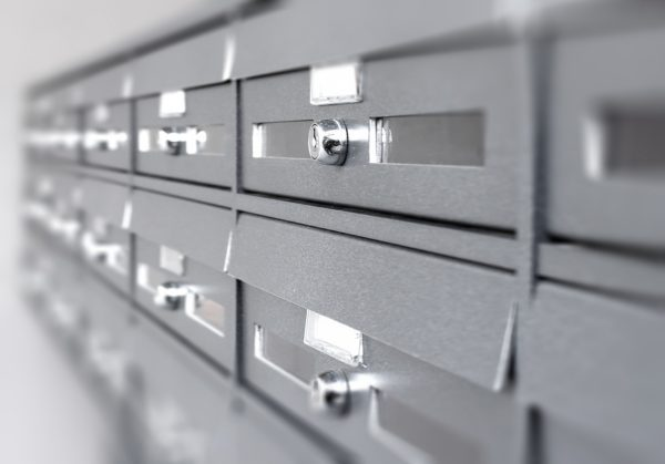 Aluminum mail boxes